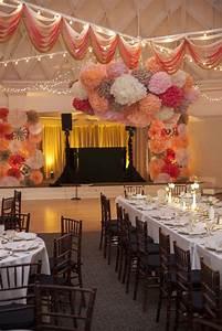 David tiffany39s wedding has amazing diy wedding ideas for Ceiling streamers for a wedding
