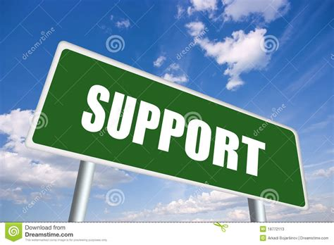 Support Sign Stock Photos