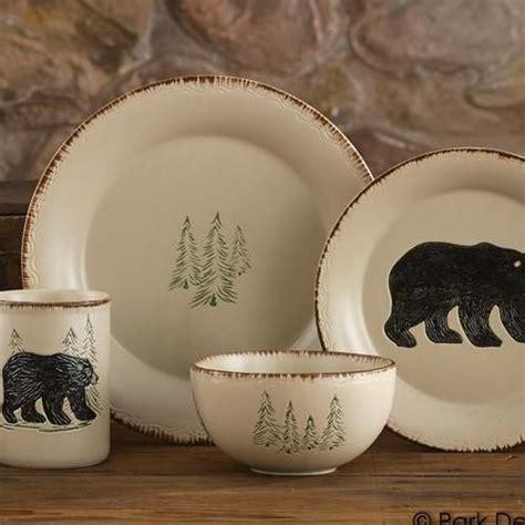 rustic retreat dinnerware set  pieces park designs