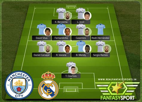 Manchester City vs Real Madrid Shared team pick 17th March ...