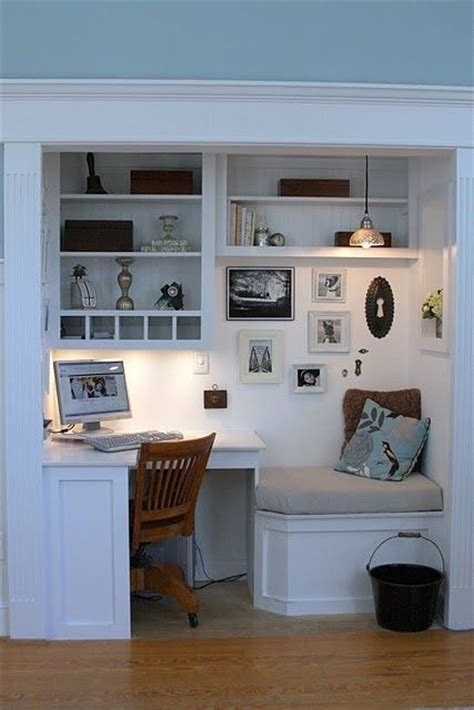 built in desk in closet home sweet home ideas