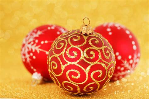 red christmas decoration  stock photo public domain