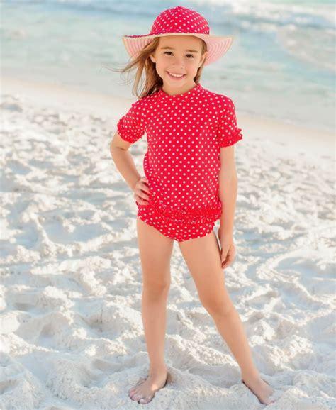 girls polka dot red rash guard rash guard swim sets