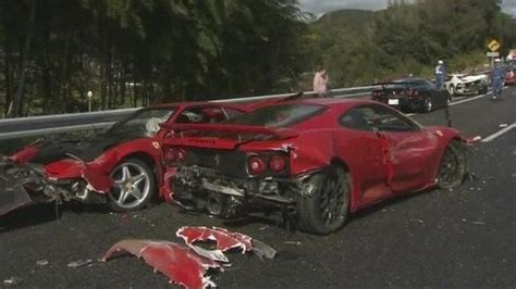14 Luxury Sports Cars Involved In Massive Crash In Japan
