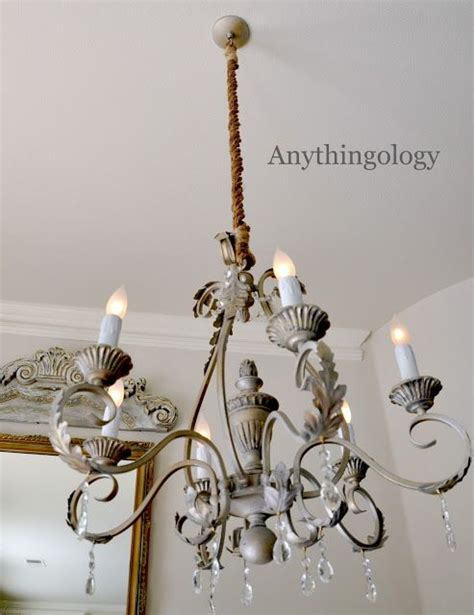 diy rope chandelier cord cover she s crafty