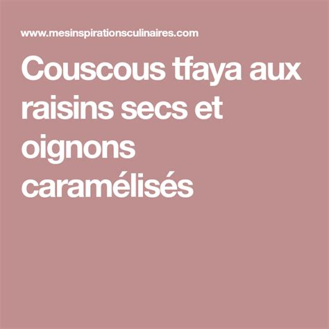 epingle sur couscous
