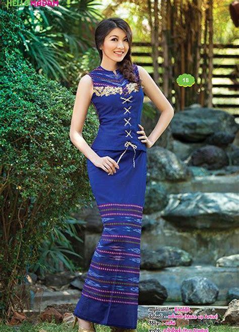 images  myanmar dress  pinterest