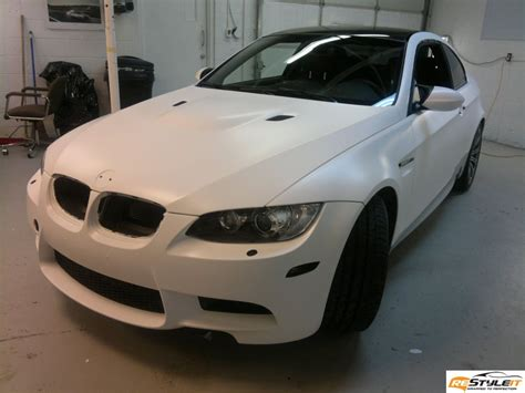 matte white matte white bmw m3 vehicle customization shop vinyl