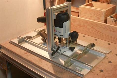 router table lift  fence festool homemade  mafe