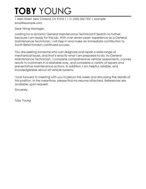 cover letter mechanic automotive technician cover letter exles and