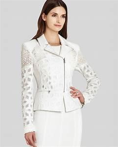Bcbgmaxazria Bcbg Max Azria Jacket Boe Jacquard Lace Moto