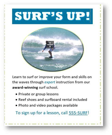 grading rubric word  module  surf flyer