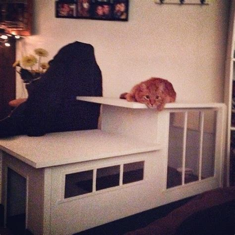 modern cat house hand made modern styled cat house by 610 design custommade com