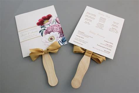 rustic wedding program fans a up of free wedding fan programs b lovely events