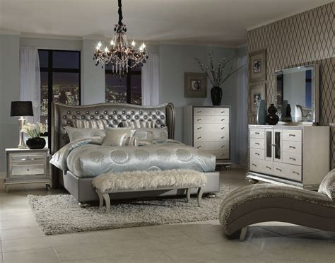 king bedroom sets aico swank upholstered bedroom set