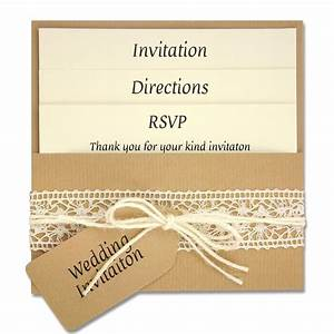 diy wedding invitations diy lace wedding invitations With single pocket wedding invitations