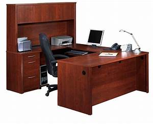 Executive Shaped Desk Hutch Thediapercake Home Trend Innovative U Shaped Desk With Hutch