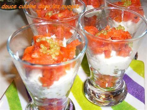 recette verrines saumon citron caviar