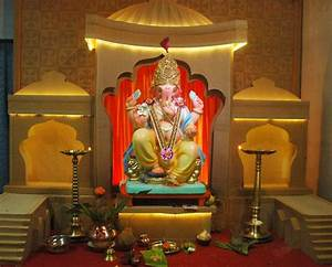 Ganpati Decoration Ideas for Home | Card boards ...