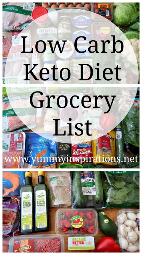 carb grocery list ketogenic diet friendly foods
