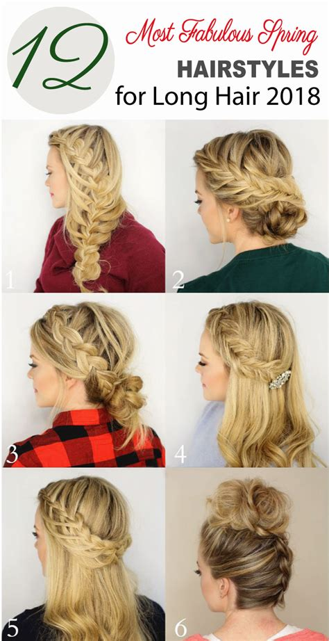 12 most fabulous spring hairstyles for long hair 2019