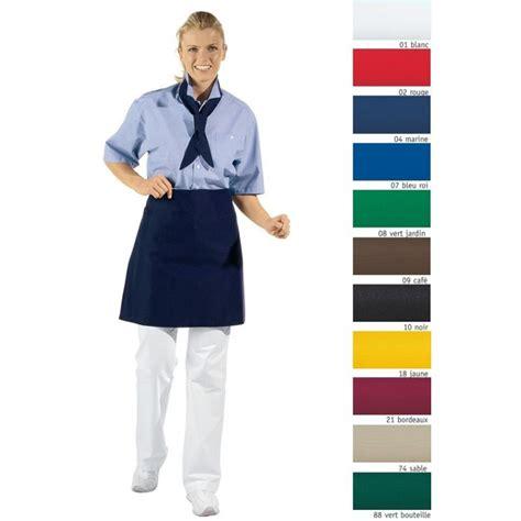 veste cuisine femme manche courte tablier bistro 50 x 80 cm ceinture et liens à nouer en