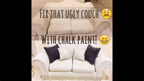 painted   year  couch  chalk paint youtube