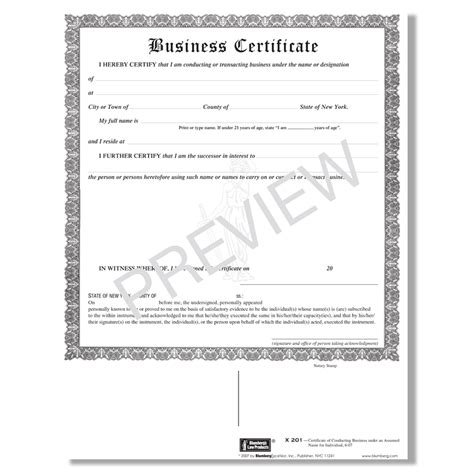 Ny State Form 201 by Blumberg Form X201 New York Business Certificate Dba Form
