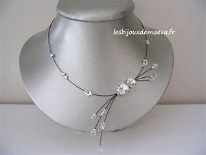 collier fantaisie mariage noir perles strass With collier mariage fantaisie