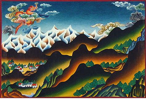 Sky Above And Earth Below Tibetan Landscapes And Thangka