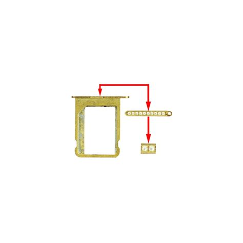 rack support tiroir carte sim microsim incrust 233 de diamant pour iphone 4 4s couleur or