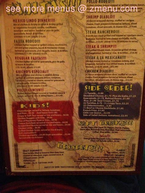 kitchen food menu of mexico lindo of leesville restaurant