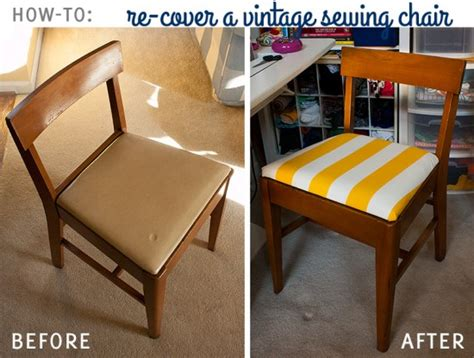 how to recover a vintage sewing chair fluffyland craft
