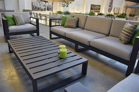 canapé de jardin aluminium canapé de jardin 3 places en alu azuro