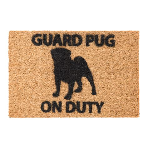 Buy Doormat by Buy Artsy Doormats Pug Door Mat Amara