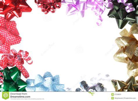 gift bow border  white background stock image image
