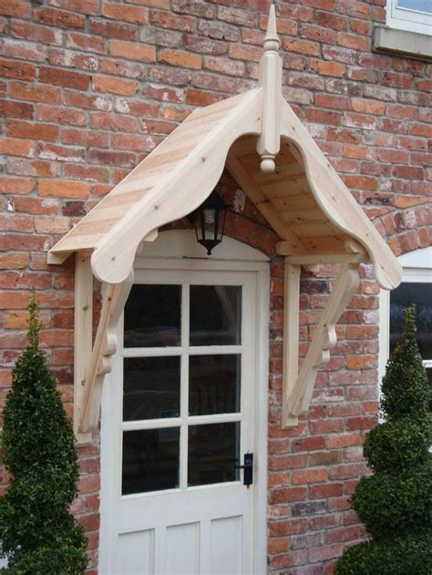 timber front door canopy porch mm ludlowgallows