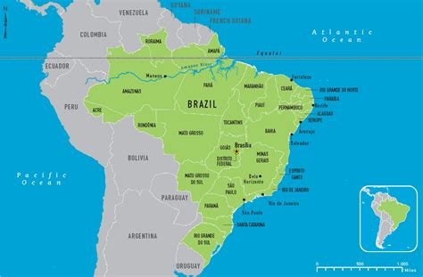 brazil map  large images mapas pinterest maps