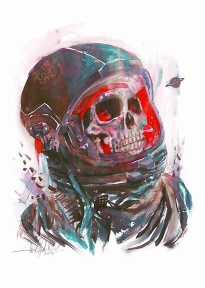 Skull Space Death Digital Skulls Javier Gonzalez