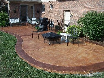 acid stained concrete patio for the home