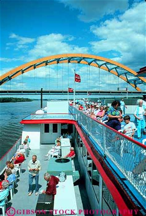 The Boat Casino Iowa by People On President Riverboat Casino On Mississippi River