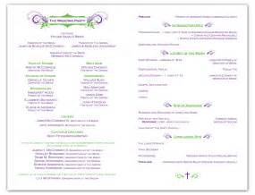 wedding ceremony programs templates free wedding ceremony program template krista graphic