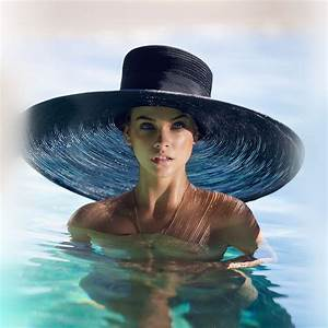 hm87-model-hat-swim-sea-summer-blue-wallpaper