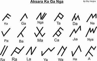 Aksara Kaganga Script Rejang Suku Sekolah Indonesiaplus
