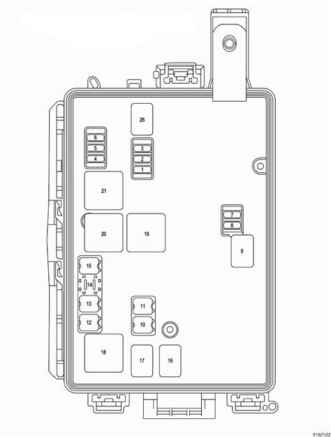 Dodge Challenger RT/SRT (from 2008)- fuse box diagram