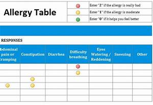 Excel Amortization Allergies List Template My Excel Templates
