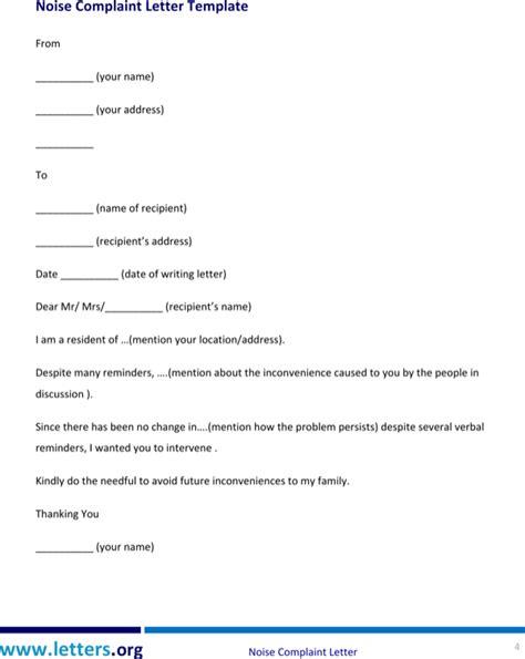 noise complaint letter   page