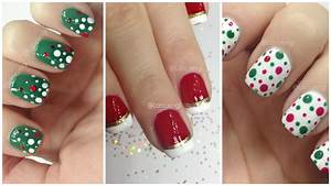 Diy cute easy christmas nail polish designs for