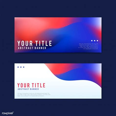 colorful  abstract banner design templates  image