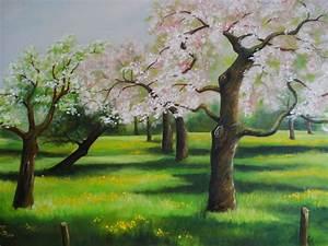 Bilder Bäume Gemalt : bild obstbaum bl te wiese fr hling von dorothy maurus bei kunstnet ~ Orissabook.com Haus und Dekorationen